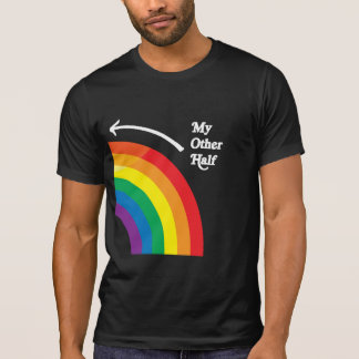 MY OTHER HALF RIGHT - white png T-shirt
