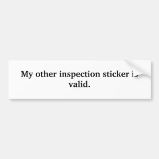 My other inspection sticker is valid.