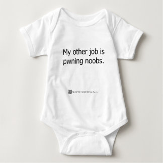 My other job is pwning noobs t-shirt
