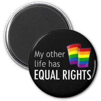 My Other Life Rainbow Dark Magnet