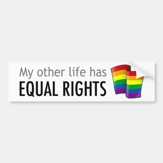 My Other Life Rainbow Light Bumper Sticker