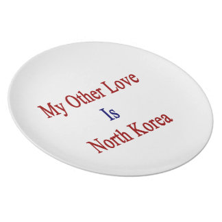 My Other Love Is North Korea Plate