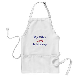 My Other Love Is Norway Adult Apron