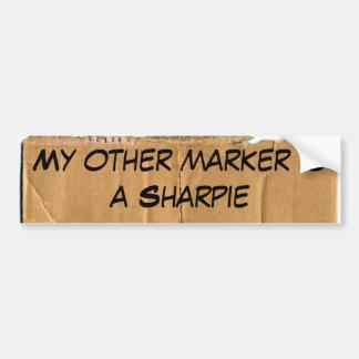 My other marker is a Sharpie Bumper Sticker