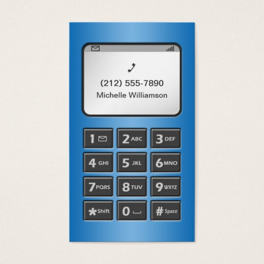 My Other Phone - Blue Personal Calling Cards