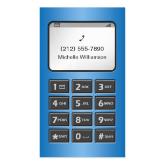 My Other Phone - Blue Personal Calling Cards Business Card