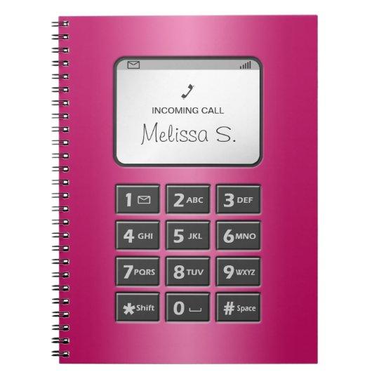 My Other Phone - Fuchsia Notebook