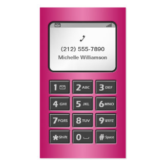 My Other Phone - Fuchsia Personal Calling Cards Double-Sided Standard Business Cards (Pack Of 100)