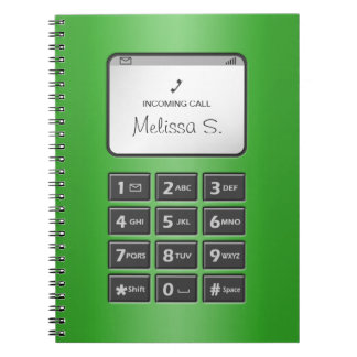 My Other Phone - Green Notebook