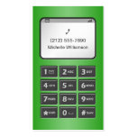 My Other Phone - Green Personal Calling Cards Double-Sided Standard Business Cards (Pack Of 100)