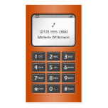 My Other Phone - Orange Business Cards