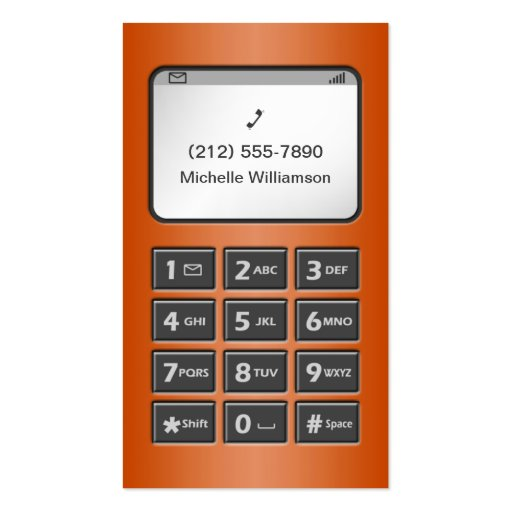 My Other Phone - Orange Personal Calling Cards