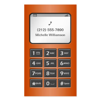 My Other Phone - Orange Personal Calling Cards Double-Sided Standard Business Cards (Pack Of 100)