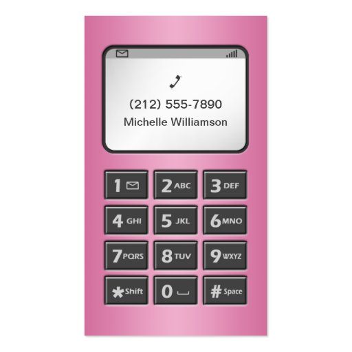 My Other Phone - Pink Personal Calling Cards Double-Sided Standard Business Cards (Pack Of 100)