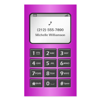 My Other Phone - Purple Personal Calling Cards Double-Sided Standard Business Cards (Pack Of 100)