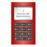 My Other Phone - Red Personal Calling Cards Double-Sided Standard Business Cards (Pack Of 100)