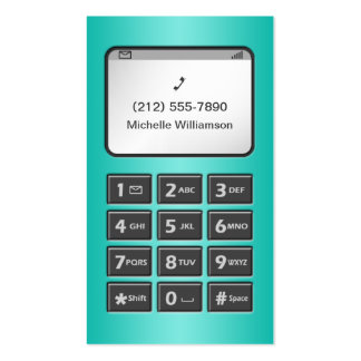 My Other Phone - Teal Personal Calling Cards Double-Sided Standard Business Cards (Pack Of 100)