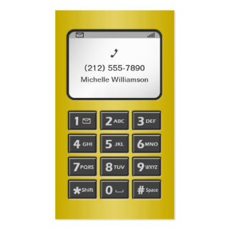 My Other Phone - Yellow Personal Calling Cards Business Card
