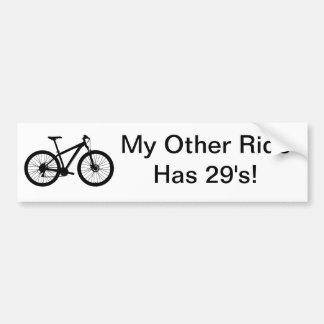 MY OTHER RIDE HAS 29'S MOUNTAIN BIKE BUMPER STICKER