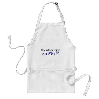 My Other Ride Is A Bike Adult Apron