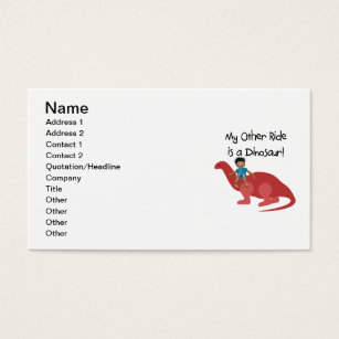 African american children business cards templates zazzle my other ride is a dinosaur aa business card colourmoves Images