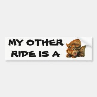 My Other Ride is A Hog Bumper Sticker