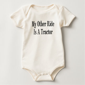 My Other Ride Is A Tractor Baby Bodysuit