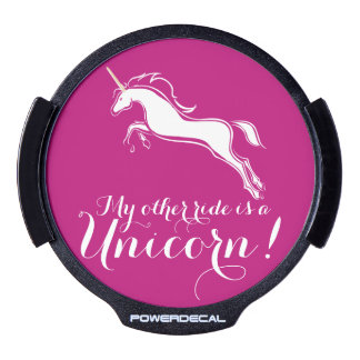 My Other Ride is a Unicorn, Funny Girly Women's LED Window Decal
