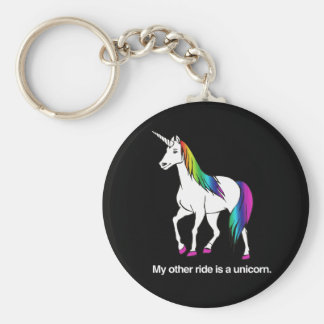 MY OTHER RIDE IS A UNICORN KEYCHAIN
