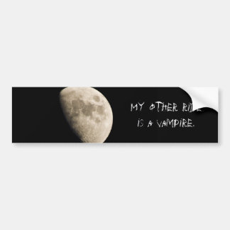 My other ride is a vampire. car bumper sticker