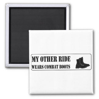 My Other Ride Wears Combat Boots Magnet