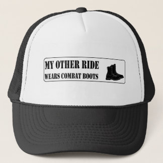 My Other Ride Wears Combat Boots Trucker Hat