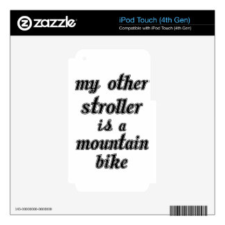 My Other Stroller Is A Mountain Bike Decals For iPod Touch 4G