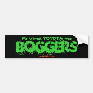 My other TOYOTA has, BOGGERS, www.FATTSHACK.com Bumper Sticker