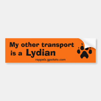 My other transport is a Lydian Car Bumper Sticker