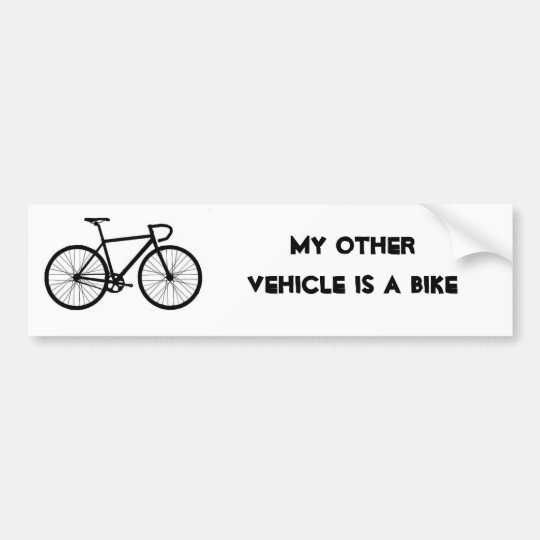 My Other Vehicle is a Bike Bumper Sticker