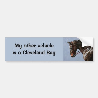 My Other Vehicle Is A Cleveland Bay Horse Bumper Sticker