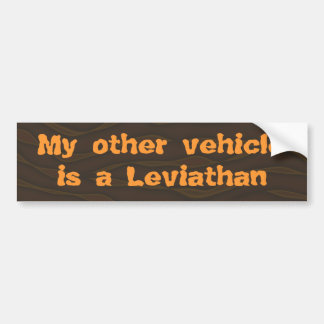 My Other Vehicle is a Leviathan Car Bumper Sticker