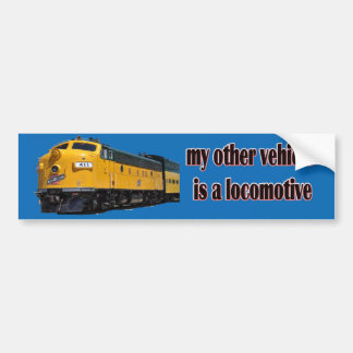 My Other Vehicle Is a Locomotive CNW Bumper Sticker
