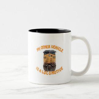 My Other Vehicle Is A Locomotive Two-Tone Coffee Mug