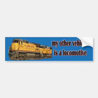 My Other Vehicle Is a Locomotive U.P. Bumper Sticker