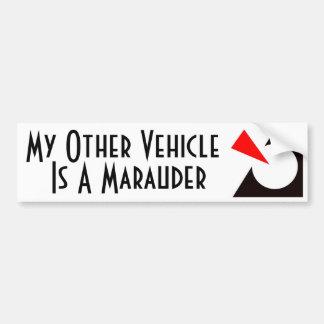 My Other Vehicle is a Marauder Car Bumper Sticker