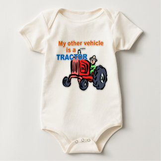 """""""My Other Vehicle is a Tractor"""" Infant Creeper"""