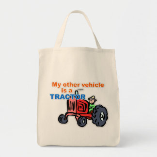 """""""My Other Vehicle is a Tractor"""" Tote Bag"""