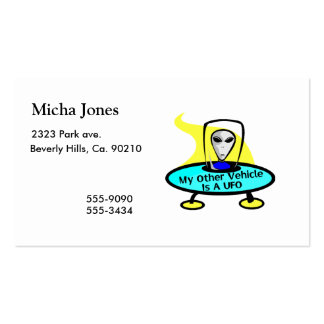 My Other Vehicle Is A UFO Double-Sided Standard Business Cards (Pack Of 100)