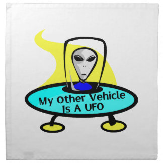 My Other Vehicle Is A UFO Napkin