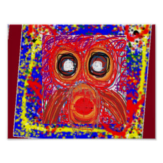MY OWL: Kids Graphic Abstract Art Colorful owesome Poster
