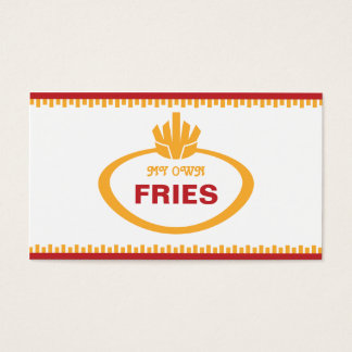My Own Fries Business Card