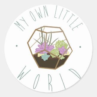 My Own Little World Classic Round Sticker