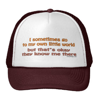 My Own Little World Hats